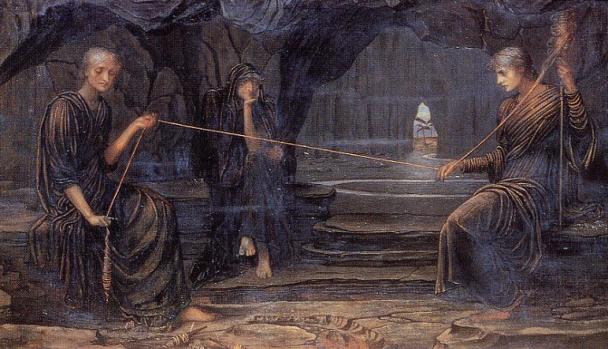 The three Fates spinning