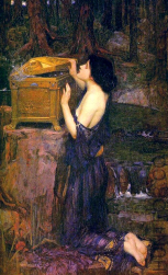 Pandora (painting by J. W. Waterhouse, 1896, private collection)