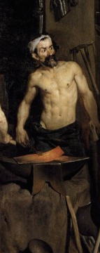Hephaestus in his forge (detail of painting by Diego Valesquez, 1640)