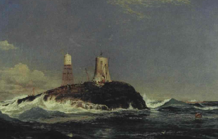 Dhu Artach Lighthouse (Sam Bough, 1822-78)
